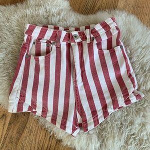 Brandy Melville John Gault Striped Shorts